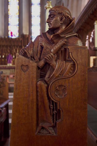 Choir Pew Figure 5: St. Bernard of Cluny, front