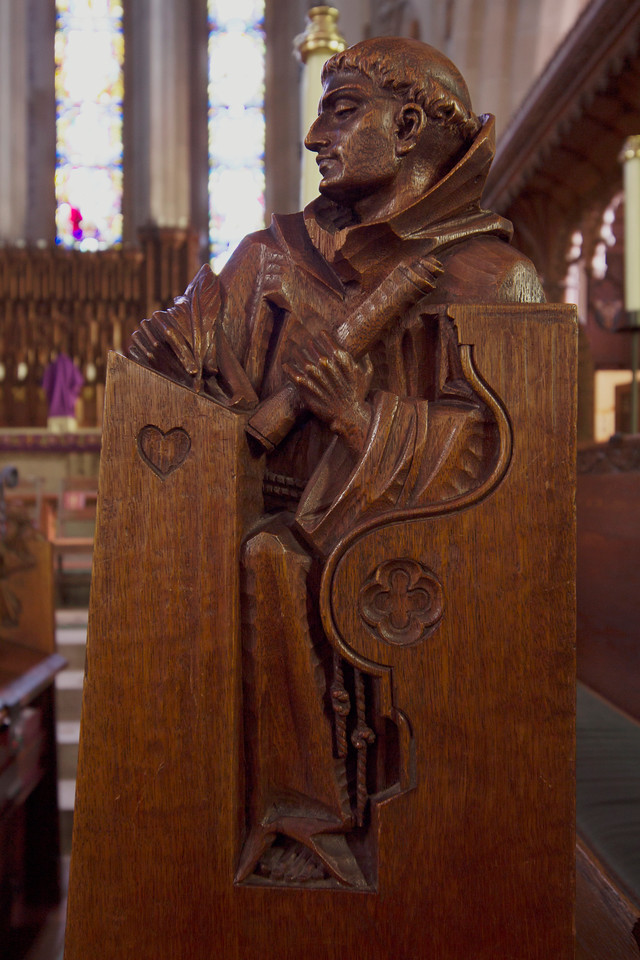 Choir Pew Figure 5: St. Bernard of Cluny, front