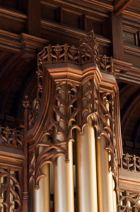 Chancel organ case top