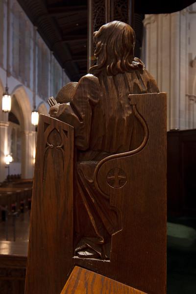 Choir Pew Figure 2: Theodulph of Orleans, rear