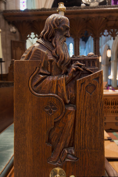 Choir Pew Figure 9: St. Zechariah, front