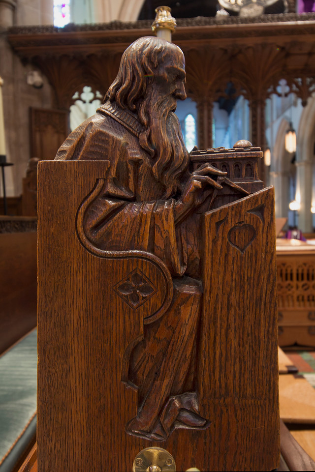 Choir Pew Figure 9: St. Zechariah, front