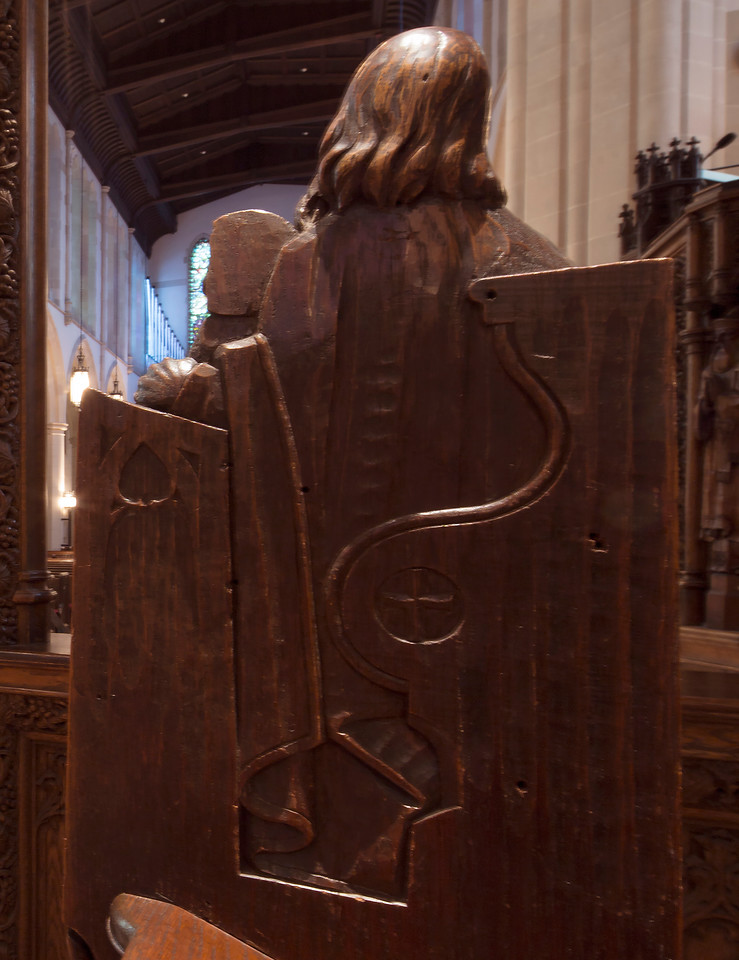 Choir Pew Figure 3: St. Simeon, rear