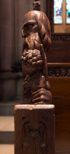 Choir Pew Figure 3: St. Simeon, profile