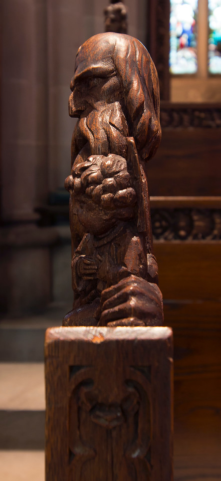 Choir Pew Figure 3: St. Simeon, profile