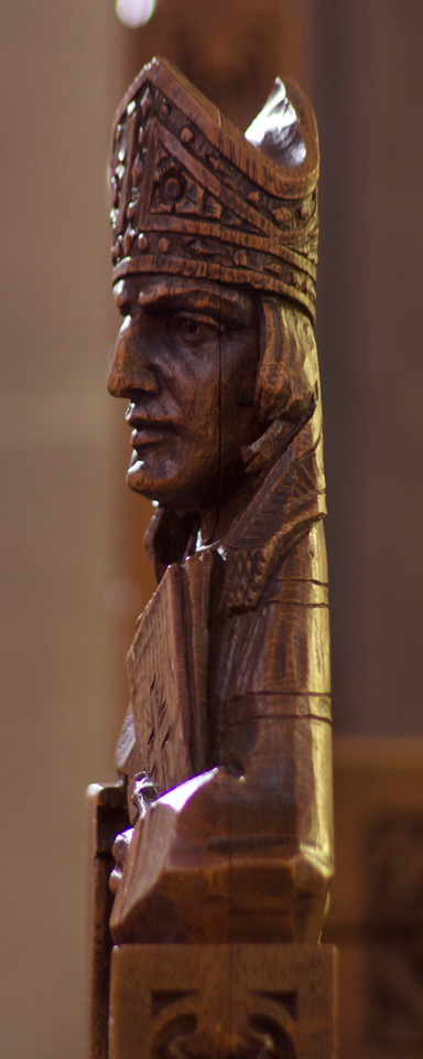 Choir Pew Figure 8: St. St. Bernard of Clairvaux, profile