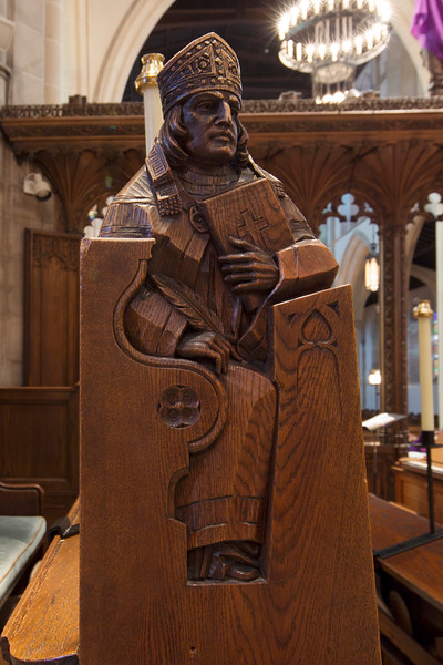 Choir Pew Figure 8: St. St. Bernard of Clairvaux, front