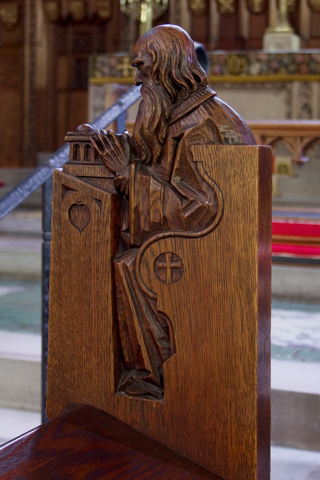 Choir Pew Figure 9: St. Zechariah, rear