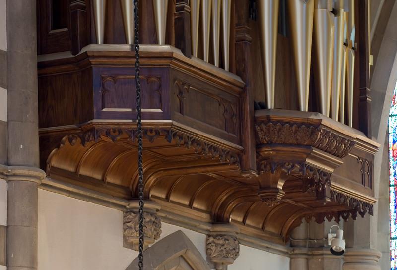 Chancel organ case bottom