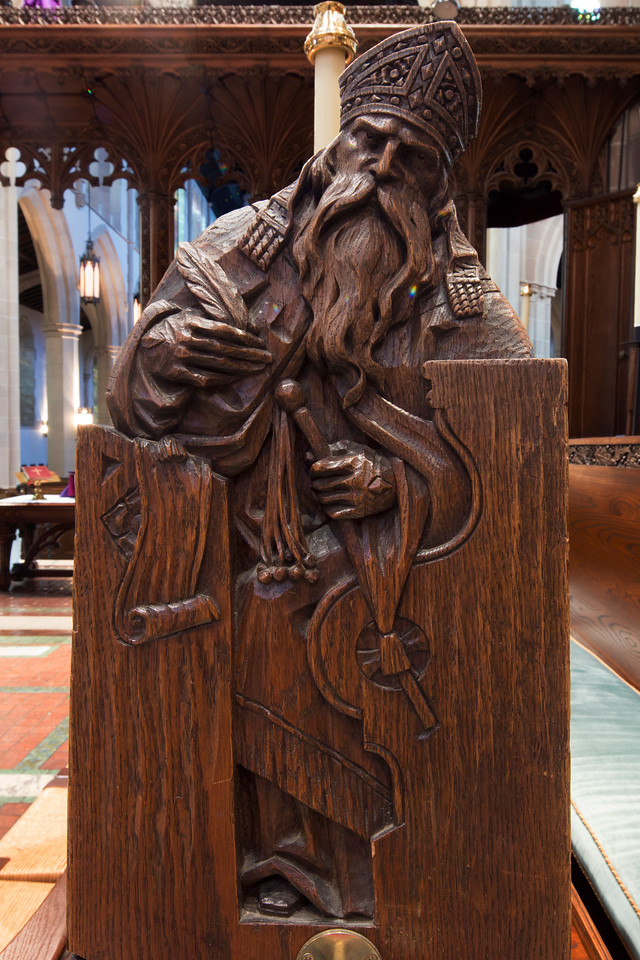 Choir Pew Figure 10: St. Andrew of Jerusalem, front