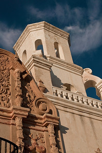 Close up of San Xavier del Bac Mission