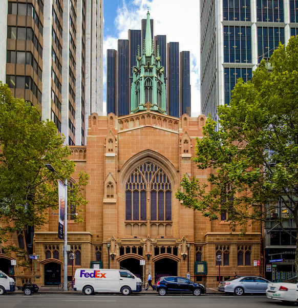 Sydney, NSW, Australia<br /> St Stephens, Macquarie St. Built in 1935 to designs by architects Messrs John Reid and Finlay Munro Jr, this is the third St Stephens' near this site (the first two having been in 'inconvenient' locations).