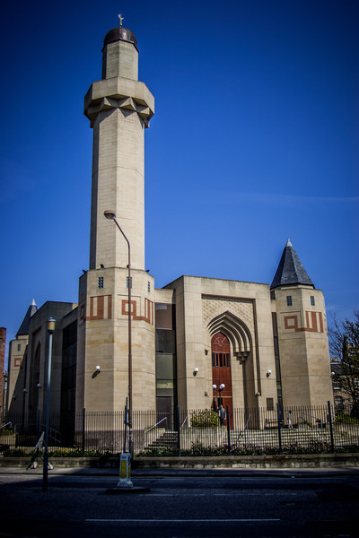 Edinburgh Central Mosque (officially known as the King Fahd Mosque and Islamic Centre of Edinburgh). Completed in 1998.