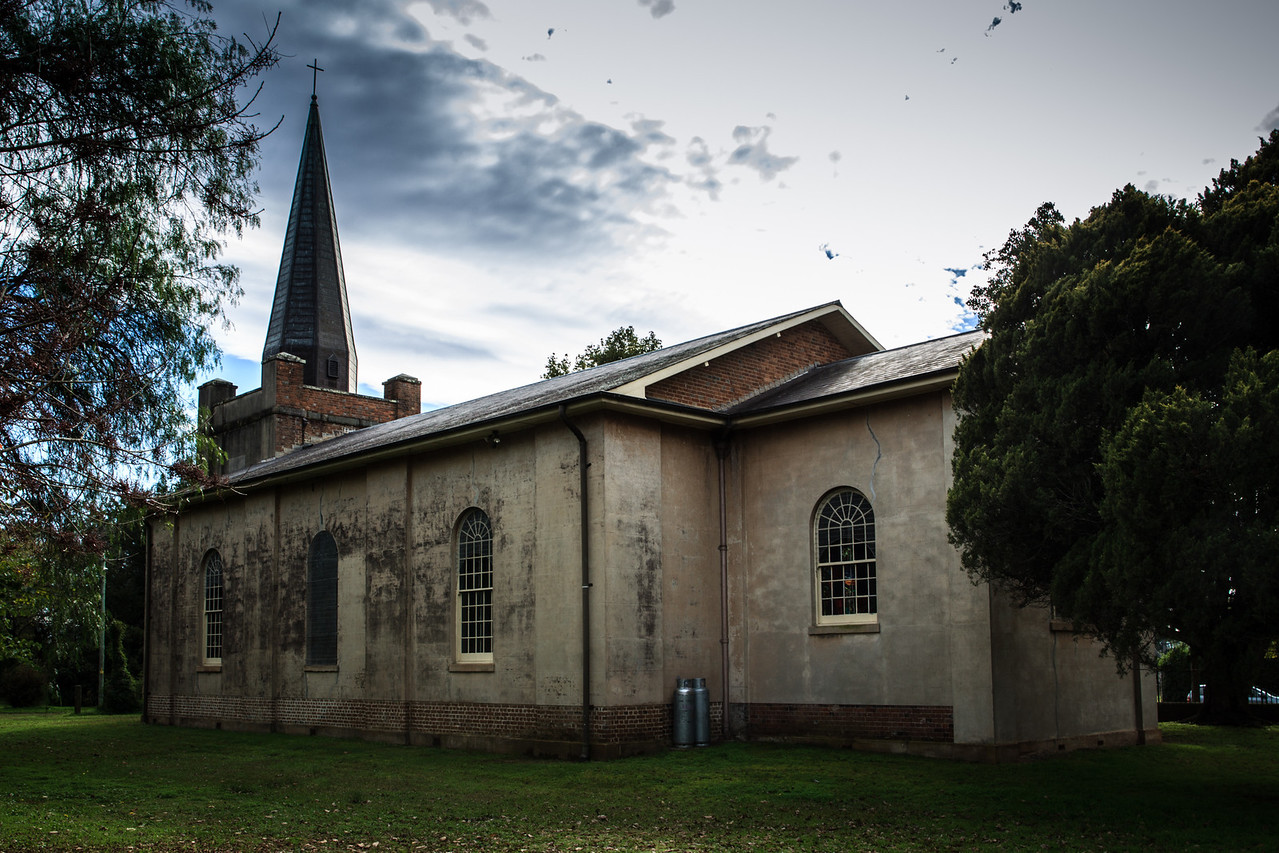 Richmond, Sydney, Australia<br /> St Peter's Church, Windsor Street. Designed by Francis Clarke, circa 1837.