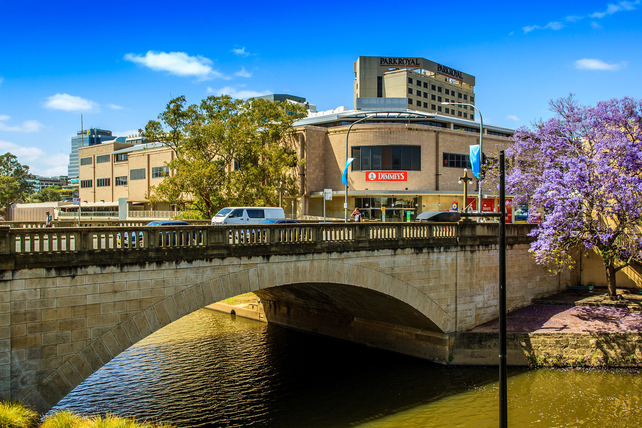 Parramatta, NSW, Australia<br /> The Lennox Bridge, built 1836-1839. This was Lennox's third bridge, and still carries traffic (it supports Parramatta's main street, Church St).