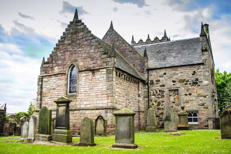 Duddingston, Edinburgh, Scotland<br /> Duddingston Kirk. Built in or around 1124 by Dodin, a Norman knight, on land granted by King David I of Scotland.