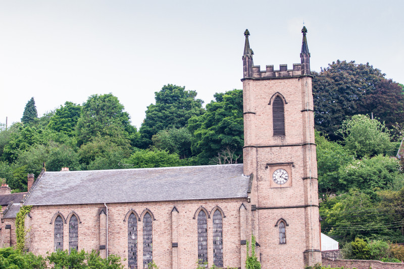 Ironbridge, England<br /> St Luke's Church.