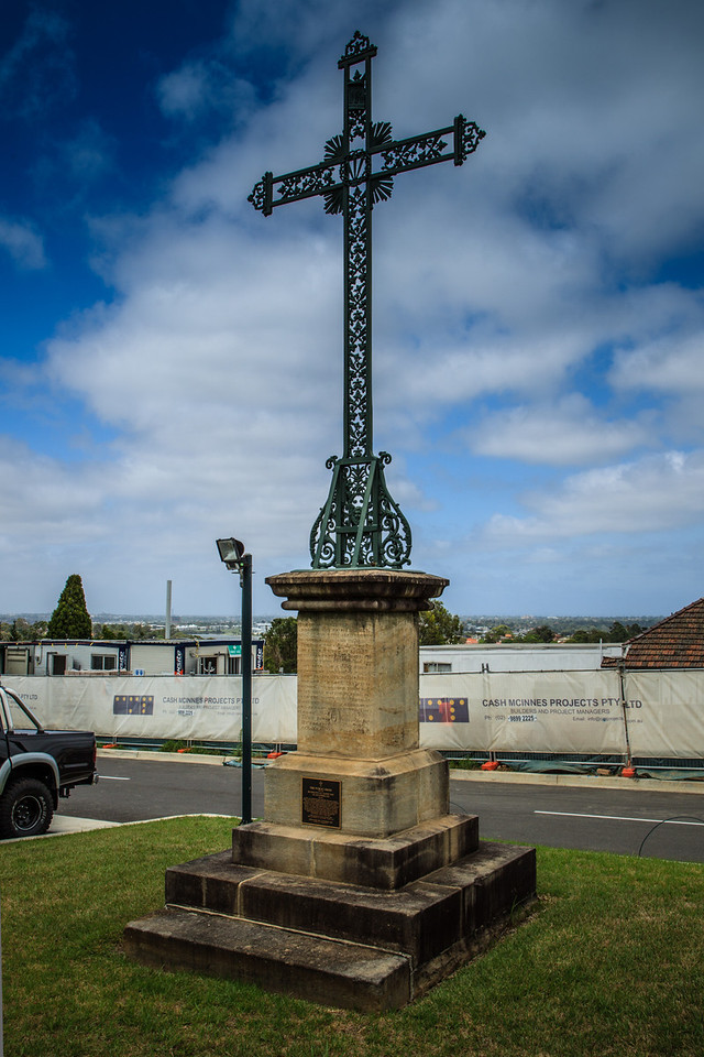 Ryde, Sydney, NSW, Australia<br /> The Public Cross behind St Charles Borromeo Church. Originally erected around 1870, and re-erected on All Saints Day (Nov 1st) 2002.