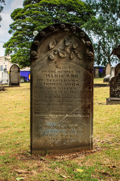 Ryde, Sydney, Australia<br /> Grave of Maria Ann Smith, better known as 'Granny' Smith. St Annes, Ryde.