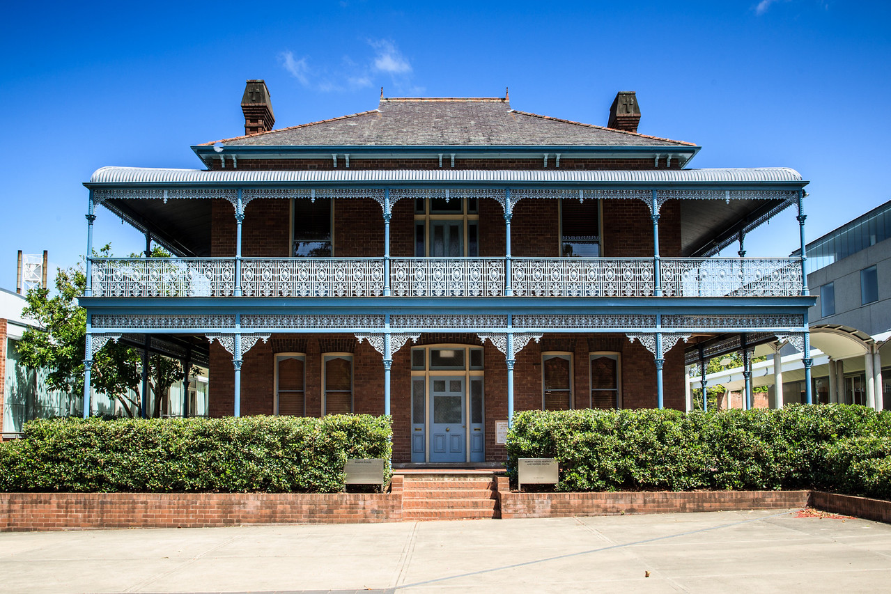 Parramatta, NSW, Australia<br /> Murphy House (Presbytery). Replacing an 1843 brick building, it's named for Father Peter Bede Murphy. Designed by architect James Whitmore Hill.