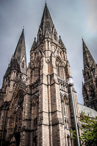 Edinburgh, Scotland<br /> St Mary's Cathedral (or the Cathedral Church of Saint Mary the Virgin) : cathedral of the Scottish Episcopal Church. Built in the late 19th century; designed by Sir George Gilbert Scott.