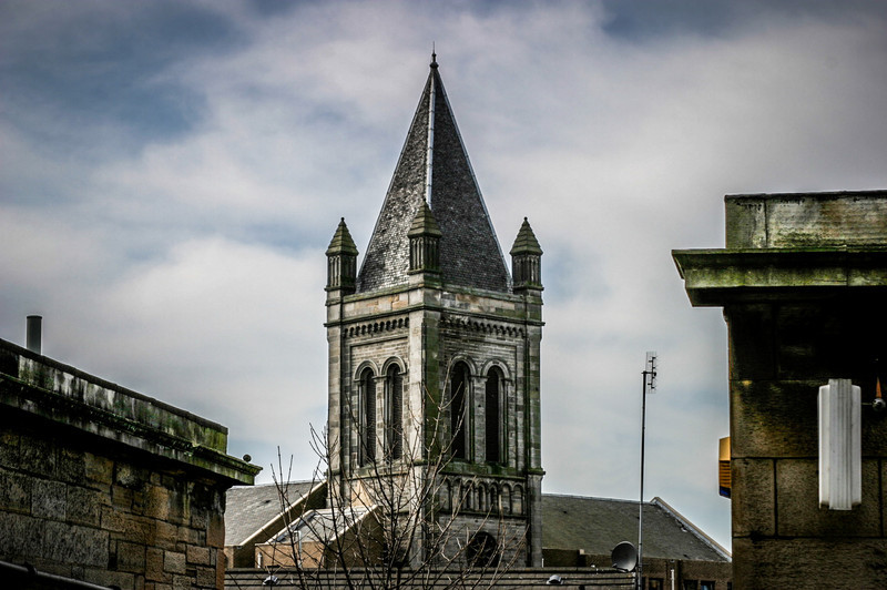 Edinburgh, Scotland<br /> Originally Stockbridge United Free Church, later Stockbridge Parish Church. Now housing.