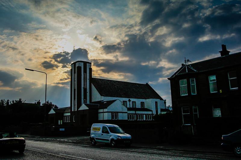 Edinburgh, Scotland<br /> Wilson Memorial Church on Kekewich Avenue. Opened in 1933 as a United Free Church dedicated to its Minister, Samuel Woodburn Wilson.