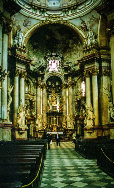 Interior of St Nicholas' Church.
