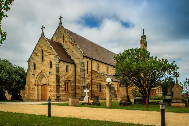 Ryde, Sydney, NSW, Australia<br /> St Charles Borromeo Church. Opened in 1857, but extensively rebuilt in 1934; with sections of the original building included in the present church.<br /> <br /> Designed by Augustus Pugin.