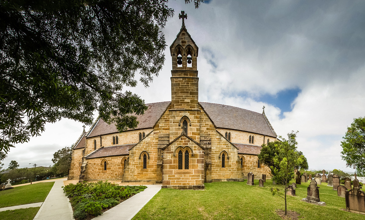 Ryde, Sydney, NSW, Australia<br /> St Charles Borromeo Church. Opened in 1857, but extensively rebuilt in 1934;, with sections of the original building included in the present church.