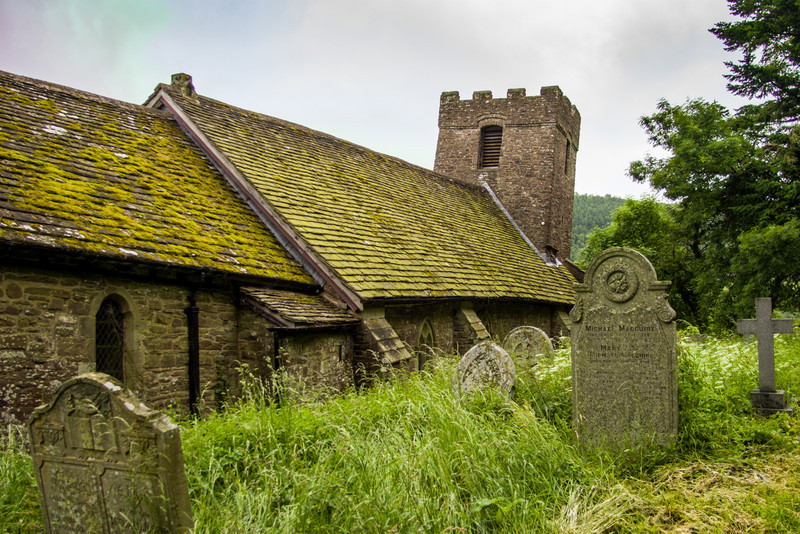 Cwmyoy Church, Wales<br /> Cwmyoy Church, Wales