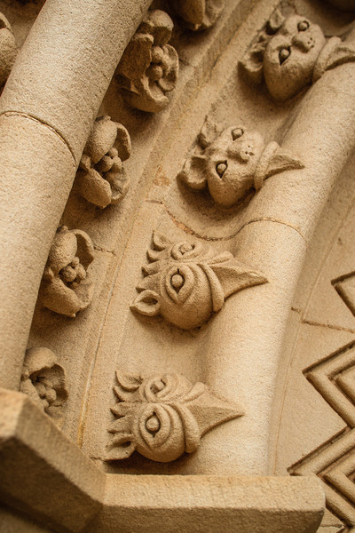 Parramatta, NSW, Australia<br /> Detail from St John's Cathedral, built 1855. The towers date to 1820, and there has been a church on this site since 1803.