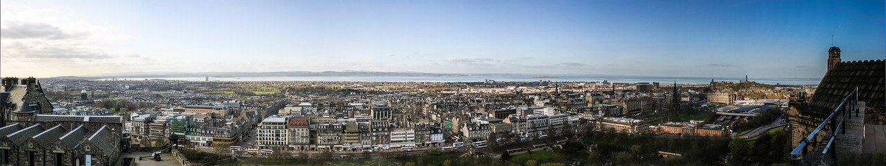 Edinburgh, Scotland<br /> View from Edinburgh Castle, looking toward Princes St.