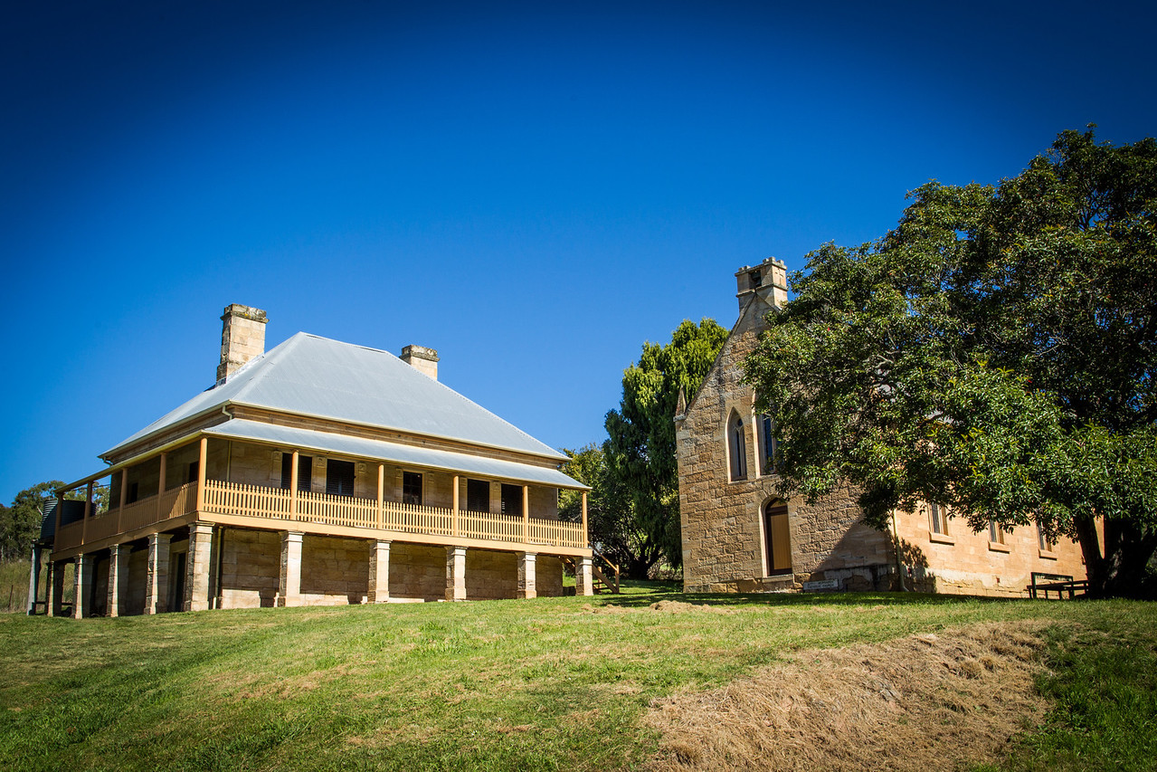 Hartley Vale, Blue Mountains, Australia<br /> St Bernard's Presbytery and St Bernard's Catholic Church, Hartley. Built in 1842.