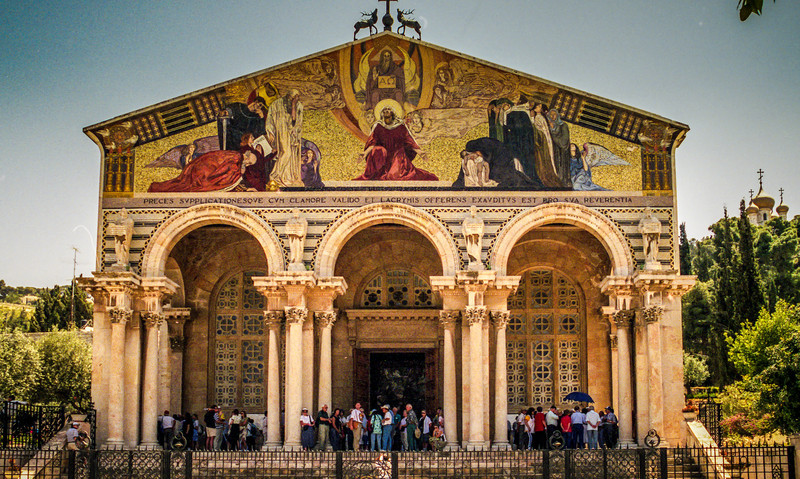 Jerusalem, Israel<br /> The Church of all Nations - Basilica of the Agony, by architect Antonio Barluzzi.