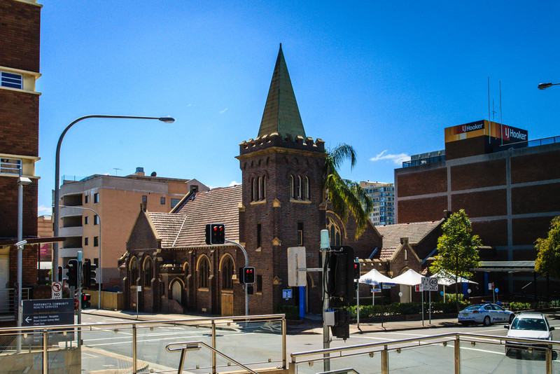 Parramatta, NSW, Australia<br /> Once St Andrews Church (opened 1928), now the Bavarian Bier Cafe. Designed by Sydney architects McCredie and Anderson.