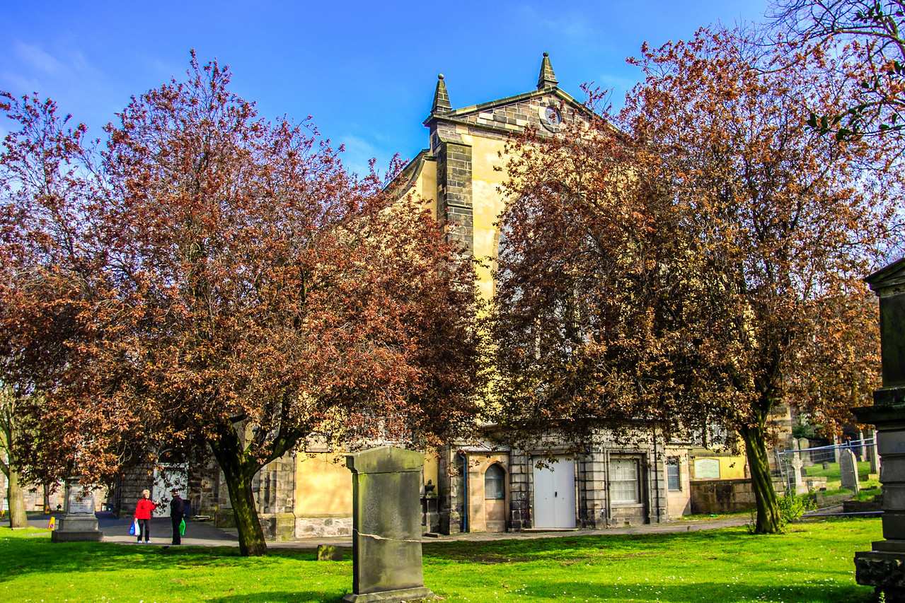"Edinburgh, Scotland<br /> Greyfriars Kirk, a parish church which stands on the site of a pre-Reformation establishment of the Franciscan order, the ""Grey Friars"". Built 1602 - 1620."