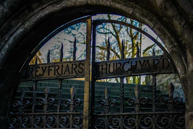 Edinburgh, Scotland<br /> Gates to Greyfriars Kirkyard.