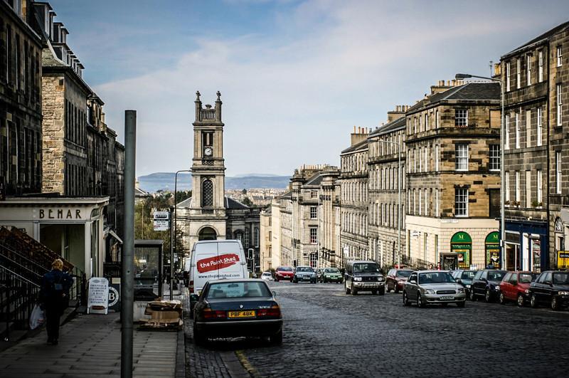 Edinburgh, Scotland<br /> Saint Stephen's Church at the bottom of Saint Vincent Street. Built in 1827-1828, to a design by architect William Henry Playfair.