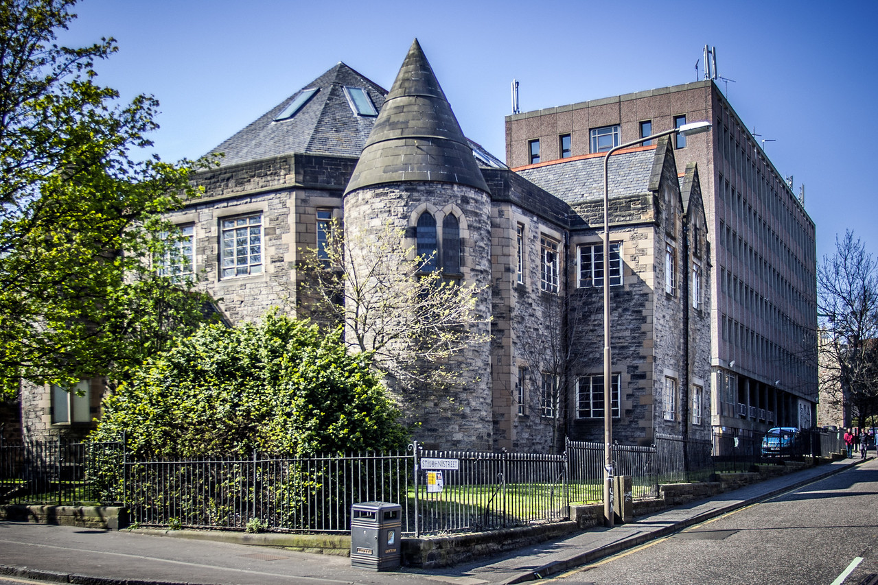 The Old Kirk (or Great Kirk), owned by Moray House (part of Edinburgh University). Current building dates to 1881/2.