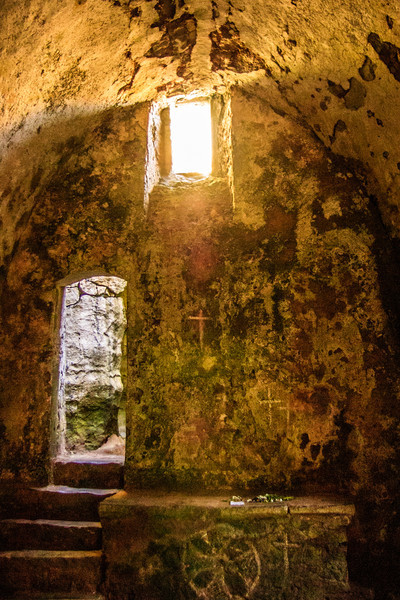 St Govan's Head, Pembrokeshire, Wales<br /> Saint Govan's Chapel, near Bosherston. Built 14thC.