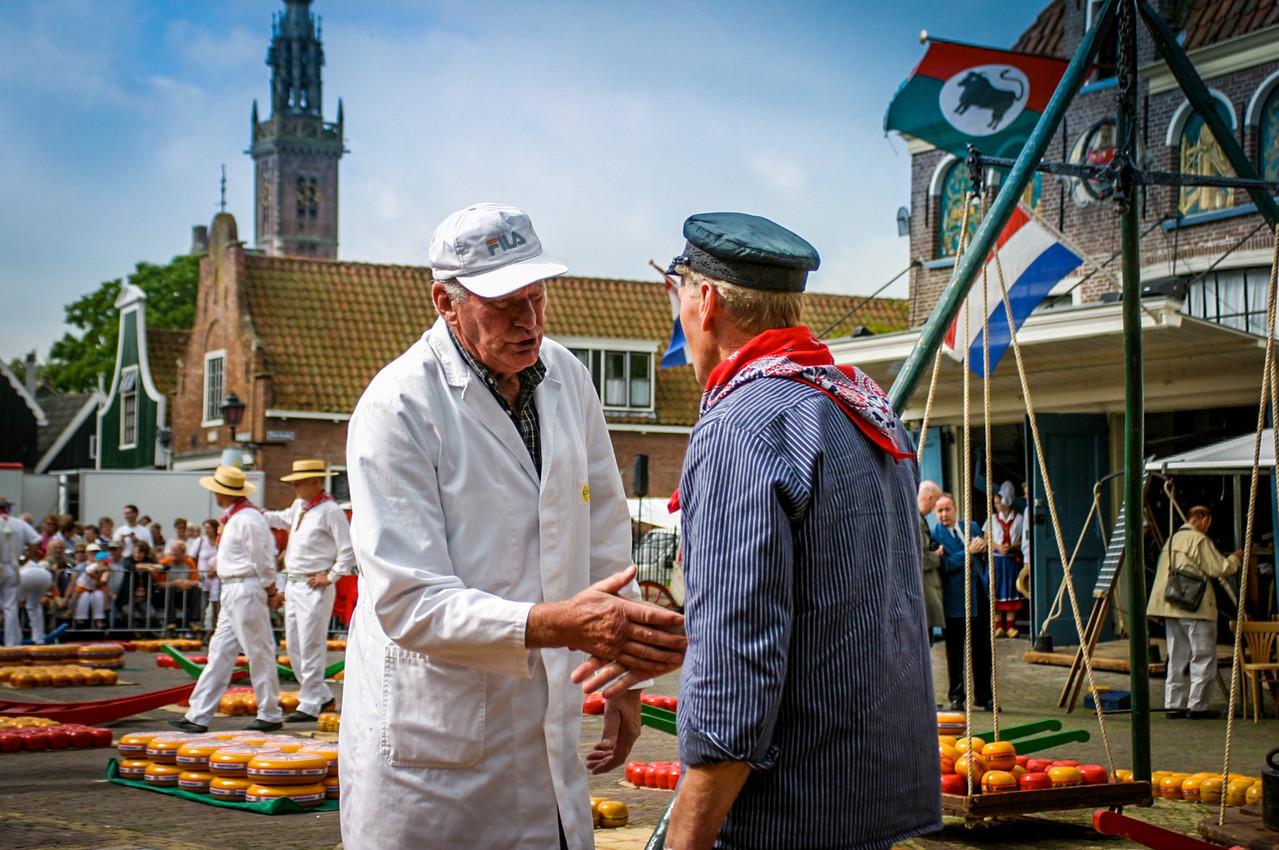 Edam, Netherlands<br /> Kaasmarkt (cheese market).