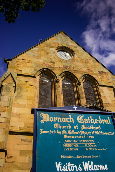 Dornoch, Scotland<br /> Dornoch Cathedral, Sutherland. Built in the 13th century, largely destroyed by fire in 1570; heavily restored in the early 19th century.