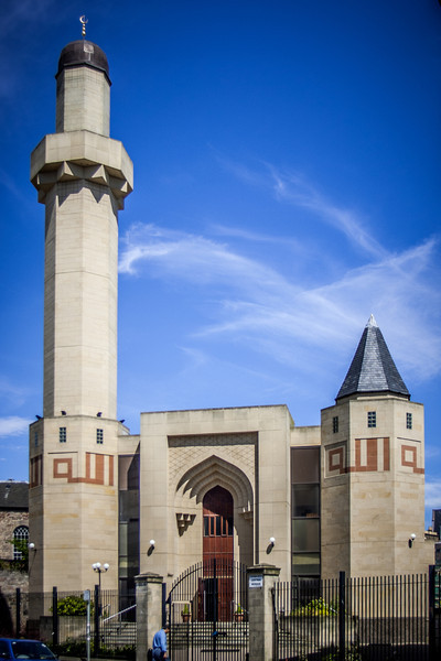 Edinburgh Central Mosque (officially known as the King Fahd Mosque and Islamic Centre of Edinburgh), on Potterrow.