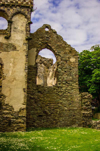 St Davids, Pembrokeshire, Wales<br /> The Bishops' Palace for St David's Cathedral, Pembrokeshire. Built 13thC-14C, it fell into disrepair in 1536; when the lead roof was removed. Bishop William Barlow used it to fund the dowries of his five daughters.