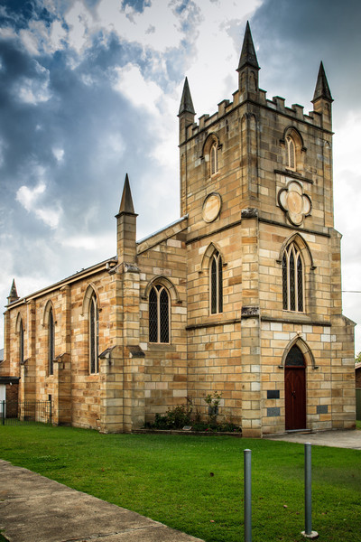 Wentworthville, NSW, Australia<br /> St Andrew's Church. Built 1840-1850 in Parramatta, it was relocated to Wentworthville in 1928.