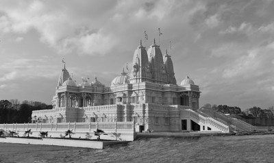 BAPS Shri Swaminarayan Mandir Temple in Lilburn, GA, Pre-sunset