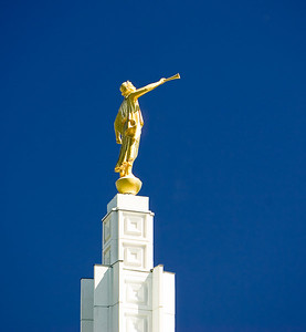 Angel Moroni atop LDS Temple in Idaho Falls