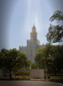 Interesting light, it was real! St. George, UT LDS Temple