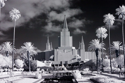Infrared image of the Oakland temple